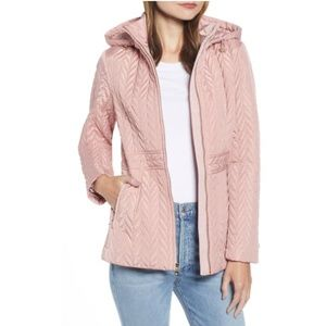 NWT KATE SPADE Hooded Quilted Jacket Soft Peony XS